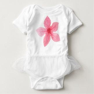 Body Para Bebé flor rosada de la acuarela