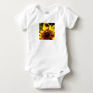 Body Para Bebé Flor y abeja amarillas