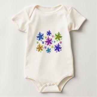 Body Para Bebé Flores de mariposa