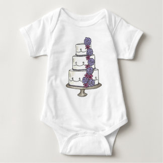 Body Para Bebé Florista floral del pastel de bodas personalizado