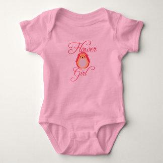 Body Para Bebé Florista rosado lindo del erizo