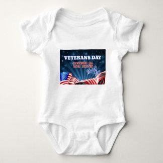 Body Para Bebé Fondo de la bandera americana del día de veteranos