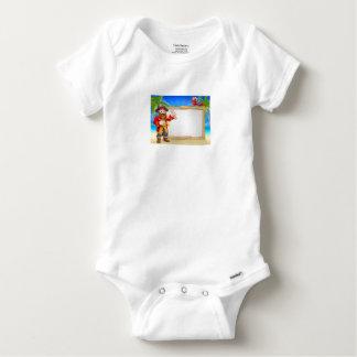 Body Para Bebé Fondo de la muestra de la playa del dibujo animado
