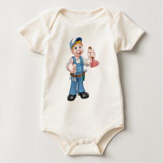Body Para Bebé Fontanero de la manitas del dibujo animado que