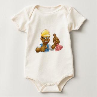 Body Para Bebé Fontanero de la manitas que lleva a cabo el