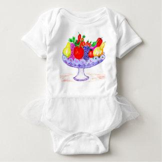 Body Para Bebé Fruta en arte del florero