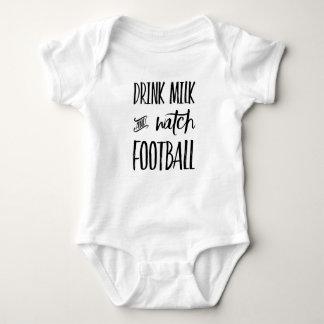 Body Para Bebé Fútbol de la leche y del reloj de la bebida