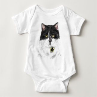 Body Para Bebé Gato blanco y negro
