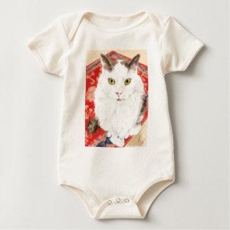 Body Para Bebé Gato persa en una alfombra persa roja