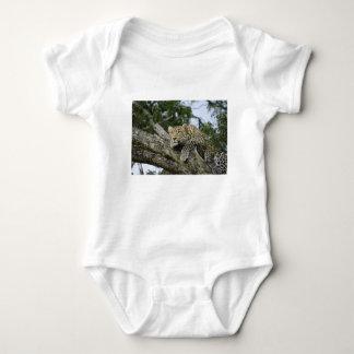 Body Para Bebé Gato salvaje animal del safari de África del árbol