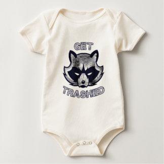 Body Para Bebé Gente del fiesta de la panda de la basura