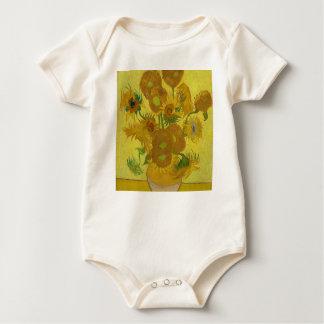 Body Para Bebé Girasoles de Vincent van Gogh - arte clásico