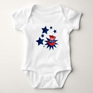 Body Para Bebé Gorra y estrellas del tío Sam