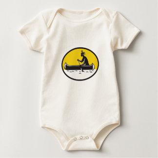Body Para Bebé Grabar en madera de batimiento indio de la canoa