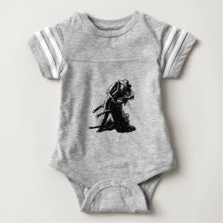 Body Para Bebé Grabar en madera de corte de las ovejas del