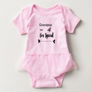 Body Para Bebé Grandpop dice que soy especial