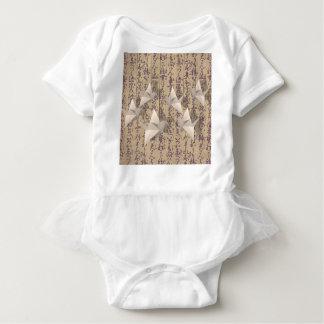 Body Para Bebé Grúas de papel