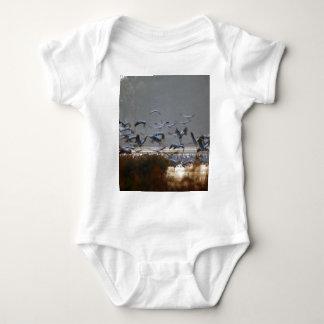 Body Para Bebé Grúas del vuelo