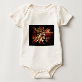Body Para Bebé Grunge de Reino Unido Inglaterra Londres de la