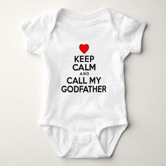 Body Para Bebé Guarde al padrino tranquilo de la llamada