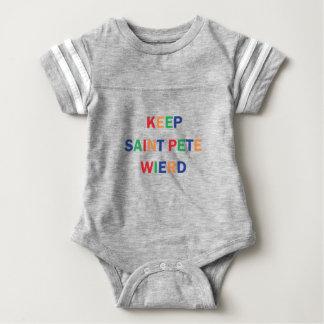 Body Para Bebé Guarde el diseño extraño de Pete del santo