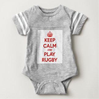 Body Para Bebé Guarde el rugbi de la calma y del juego