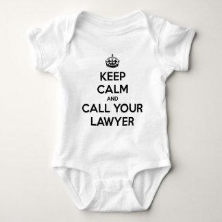 Body Para Bebé Guarde la calma y llame a su abogado