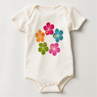 Body Para Bebé Guirnalda de las flores del hibisco