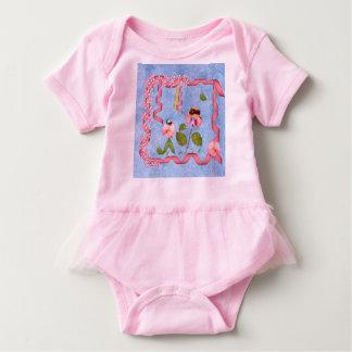 Body Para Bebé Guisantes de olor chistosos rosados y gente de