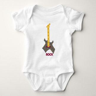 Body Para Bebé Guitarra del calicó de la roca del bebé de la roca