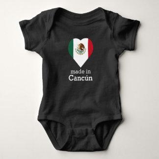 Body Para Bebé Hecho en la bandera México del corazón de Cancún