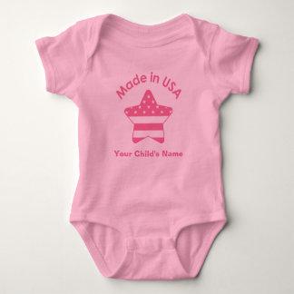 Body Para Bebé Hecho en rosa de los E.E.U.U.