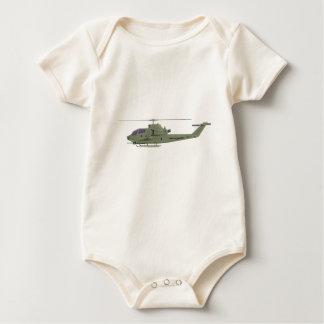 Body Para Bebé Helicóptero de Apache en perfil de la vista