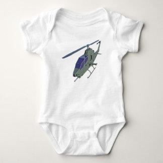 Body Para Bebé Helicóptero de Apache en vista delantera
