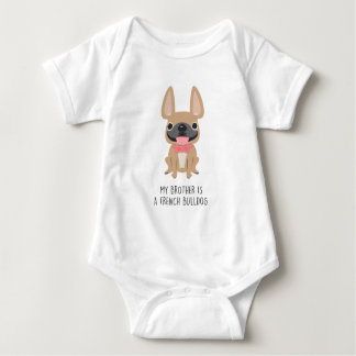 Body Para Bebé Hermano mayor Frenchie - cervatillo por amor del
