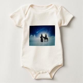 Body Para Bebé Historia Maria y Jesús del navidad