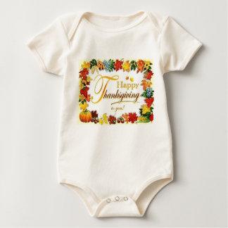 Body Para Bebé Hojas coloridas de la acción de gracias feliz del