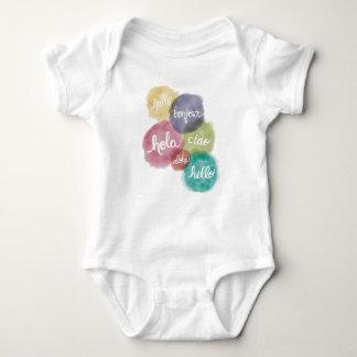 Body Para Bebé Hola en juego del cuerpo del bebé de 6 idiomas