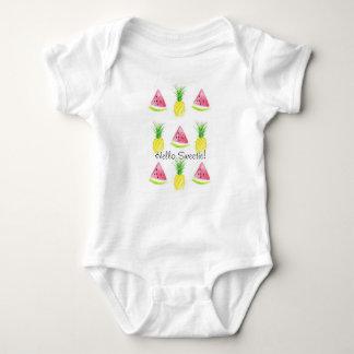 Body Para Bebé Hola juego del cuerpo de la sandía y de la piña