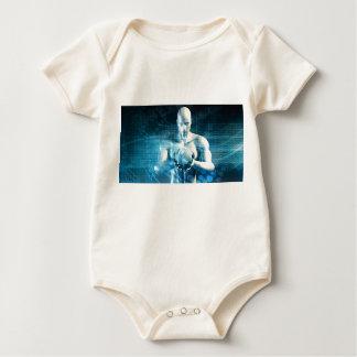 Body Para Bebé Hombre que sostiene el globo con industria de la