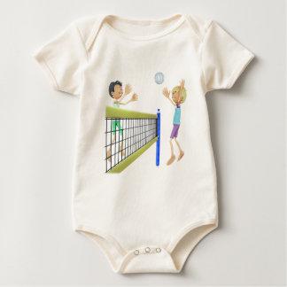 Body Para Bebé Hombres del dibujo animado que juegan a voleibol