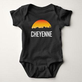 Body Para Bebé Horizonte de la puesta del sol de Cheyenne Wyoming