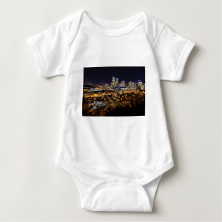 Body Para Bebé Horizonte de Pittsburgh en la noche