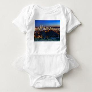 Body Para Bebé Horizonte de Pittsburgh en la puesta del sol