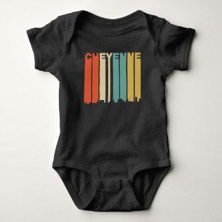 Body Para Bebé Horizonte retro de Cheyenne Wyoming del estilo de