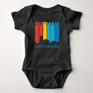 Body Para Bebé Horizonte retro de Durham Carolina del Norte del
