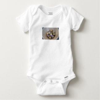 Body Para Bebé Huevos de codornices y flores 7533