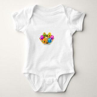 Body Para Bebé Huevos de Pascua pintados en la bandeja del oro