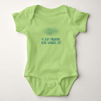 Body Para Bebé ¡I apenas ballenas Freaking del amor,