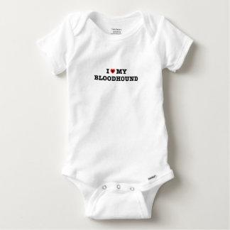 Body Para Bebé I corazón mi mono del bebé del sabueso